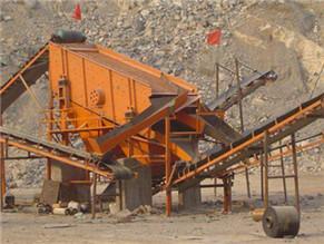 河卵石制砂生产现场